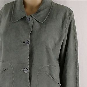 Sundance genuine leather jacket size 8